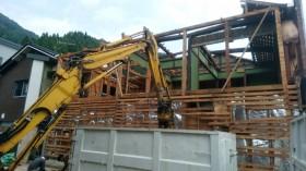 建物解体スケルトンへ